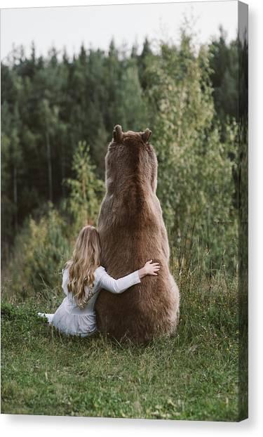 Brown Bears Canvas Print - * by Olga Barantseva