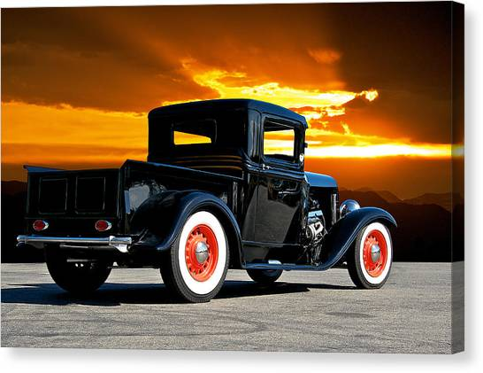 1932 Ford Pick Up Canvas Print by Dave Koontz