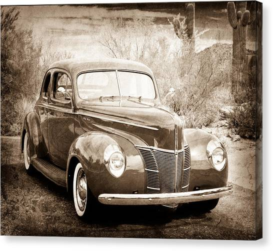 Coupe Canvas Print - 1940 Ford Deluxe Coupe by Jill Reger