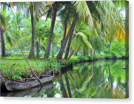 Bayous Canvas Print - Asia, India, Kerala (backwaters by Steve Roxbury