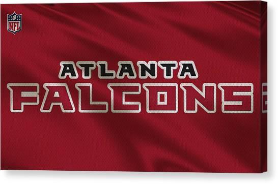 Atlanta Falcons Canvas Print - Atlanta Falcons Uniform by Joe Hamilton