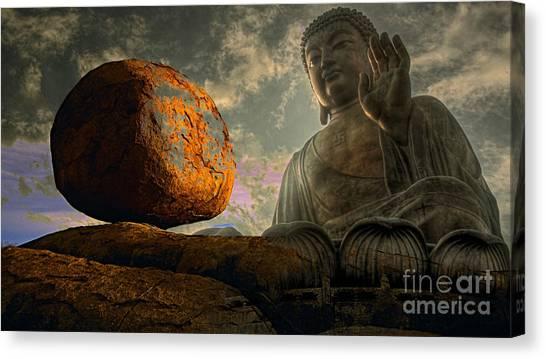 Yin Canvas Print - Balance by Marvin Blaine