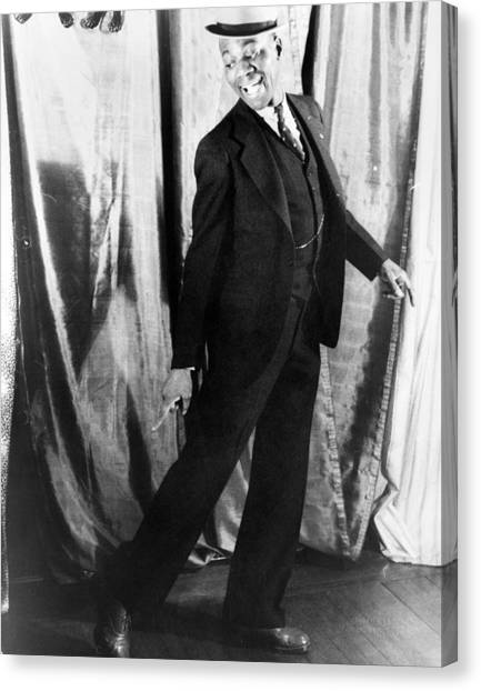 Tap Dance Canvas Print - Bill Robinson (1878-1949) by Granger
