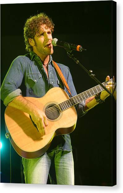 Billy Currington Canvas Print by Don Olea