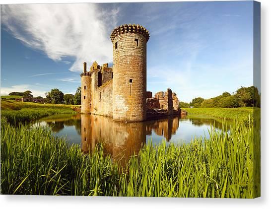 Castle Canvas Print - Caerlaverock Castle by Grant Glendinning