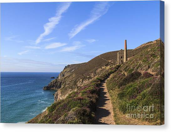 Chapel Porth Cornwall Canvas Print