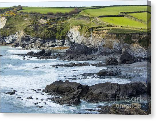 Cornish Seascape Gunwalloe Canvas Print