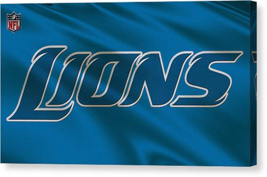 Detroit Lions Canvas Print - Detroit Lions Uniform by Joe Hamilton