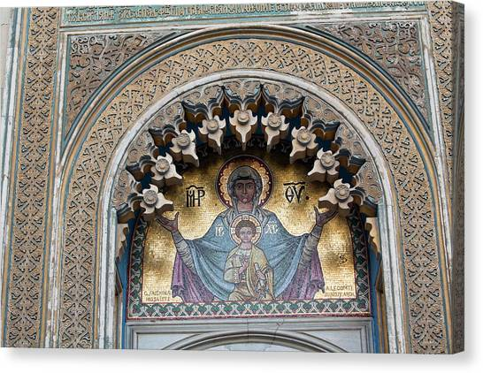 Byzantine Art Canvas Print - Episcopal Cathedral Of Curtea De Arges by Martin Zwick