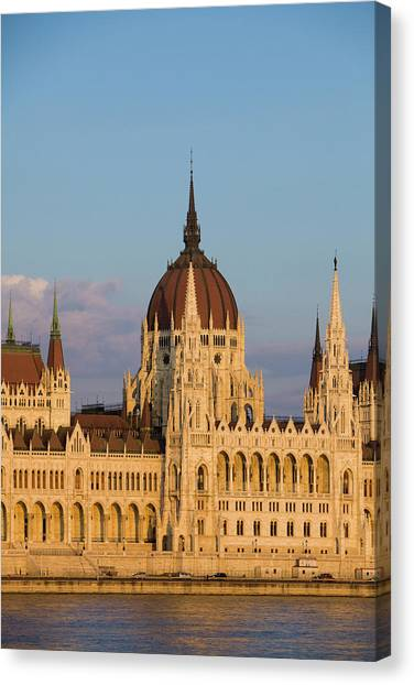 Danube Canvas Print - Europe, Hungary, Budapest by Jaynes Gallery