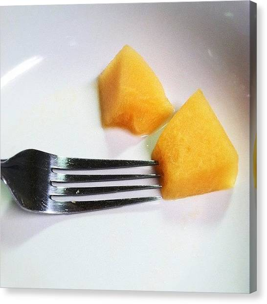 Melons Canvas Print - @f_poe @amixedmedialife by Sarah Skeen
