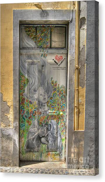 Funchal Door Art  11 Canvas Print