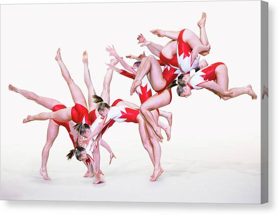 Tumbling Canvas Print - Gymnast Performing by Gustoimages/science Photo Library