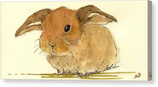 Rabbits Canvas Print - Hare by Juan  Bosco