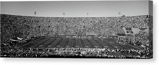 Ucla Canvas Print - High Angle View Of A Football Stadium by Panoramic Images