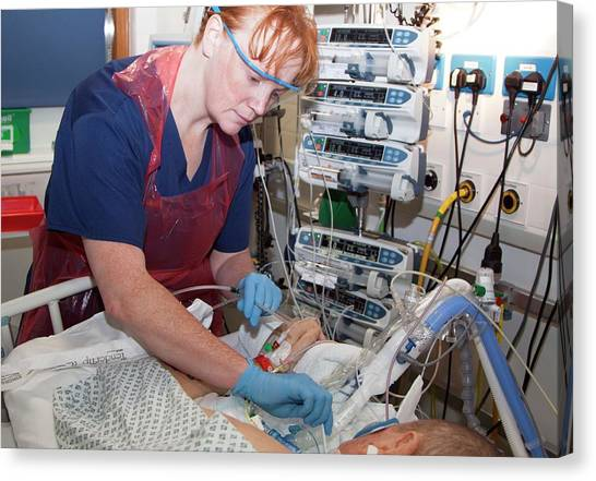 Critical Canvas Print - Intensive Care Unit by Life In View