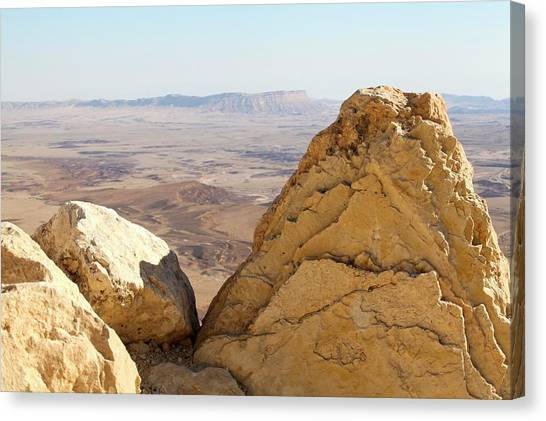 Negev Desert Canvas Print - Israel by Photostock-israel