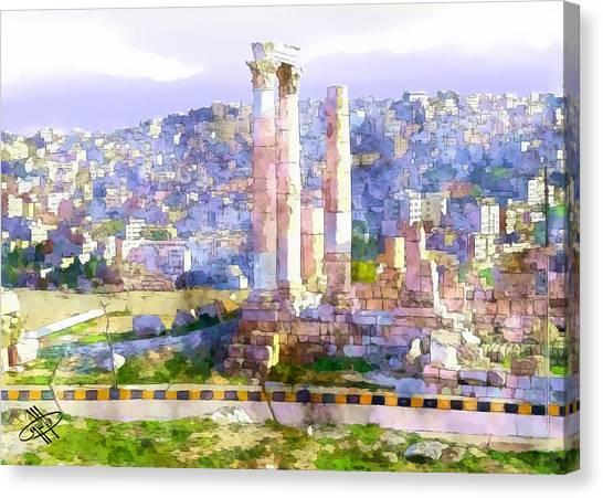 Jordan/amman/citadel Canvas Print by Fayez Alshrouf