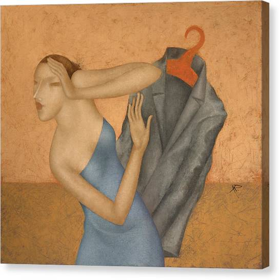 Coat Hanger Canvas Print - Meeting by Nicolay  Reznichenko