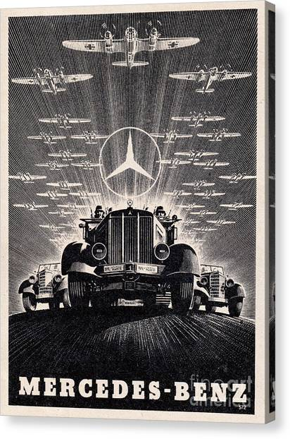 Mercedes - Benz Canvas Print
