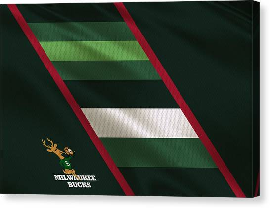 Milwaukee Bucks Canvas Print - Milwaukee Bucks Uniform by Joe Hamilton