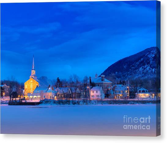 Mont Saint Hilaire Quebec Winter Canvas Print