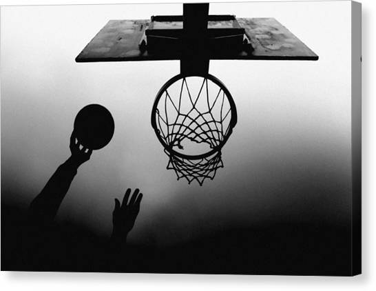 Basket Canvas Print - N/t by Paulo Medeiros