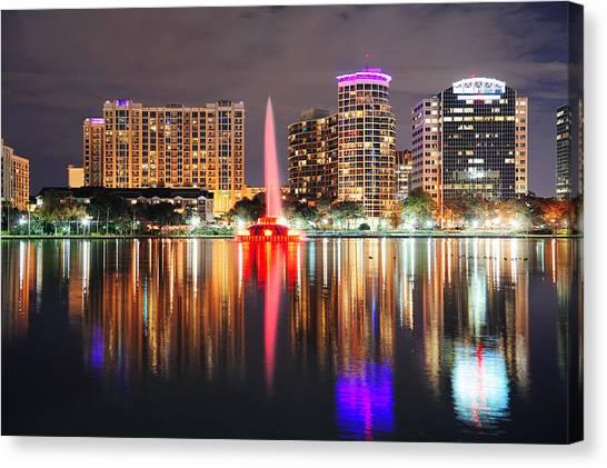 Orlando Downtown Dusk Canvas Print