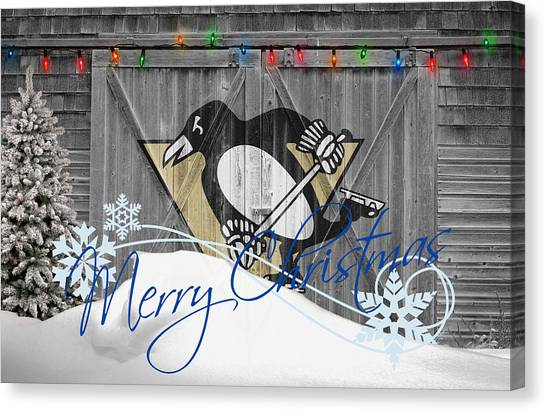 Penguins Canvas Print - Pittsburgh Penguins by Joe Hamilton