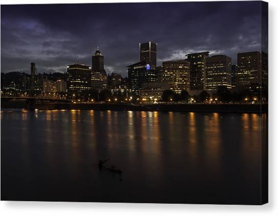 Portland Waterfront Canvas Print