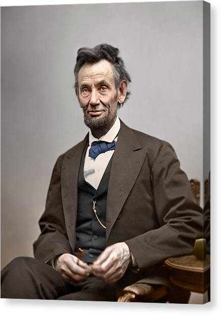 Racism Canvas Print - President Abraham Lincoln by Retro Images Archive