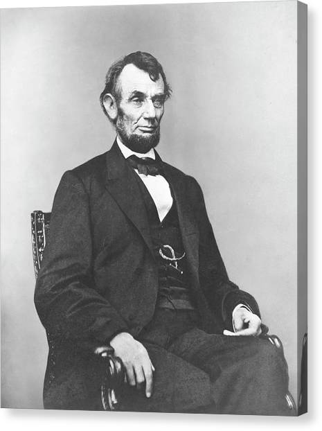 American Presidents Canvas Print - President Lincoln by War Is Hell Store