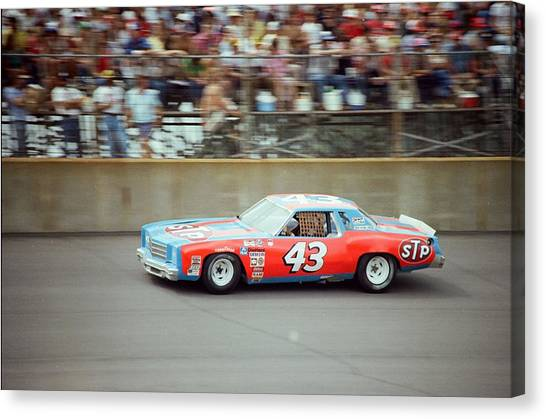 Nascar Canvas Print - Richard Petty by Retro Images Archive