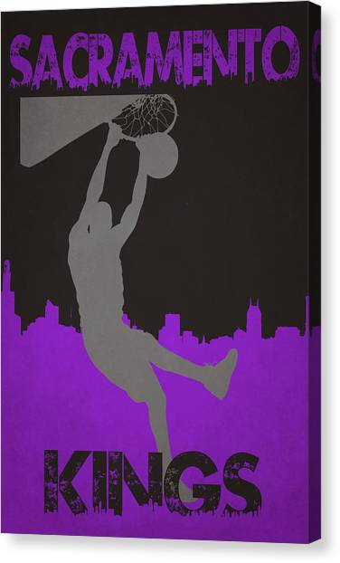 Sacramento Kings Canvas Print - Sacramento Kings by Joe Hamilton