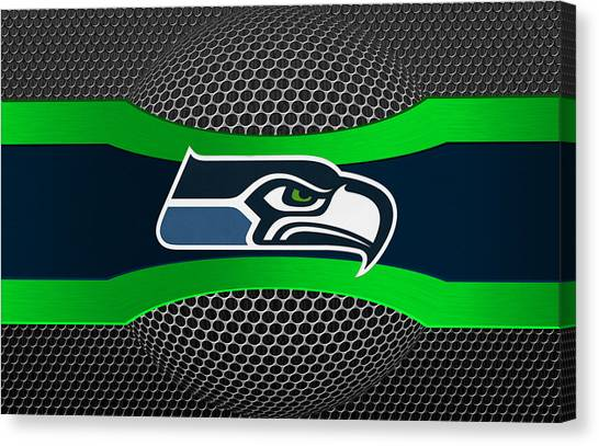 Goal Canvas Print - Seattle Seahawks by Joe Hamilton