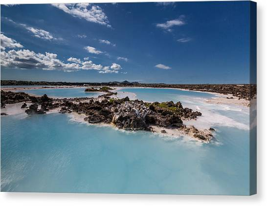 Landform Canvas Print - Silica Deposits In Water By The by Panoramic Images
