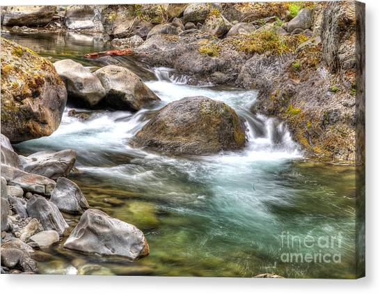 Olympic National Park Canvas Print - Sol Duc River by Twenty Two North Photography