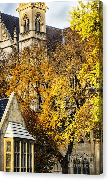 University Of Pittsburgh Canvas Print - St Paul Cathedral by Thomas R Fletcher