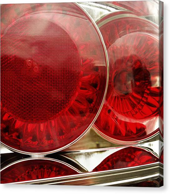 Stoplights Canvas Print - Tail Lights by Les Cunliffe