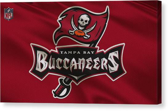 Tampa Bay Buccaneers Canvas Print - Tampa Bay Buccaneers Uniform by Joe Hamilton
