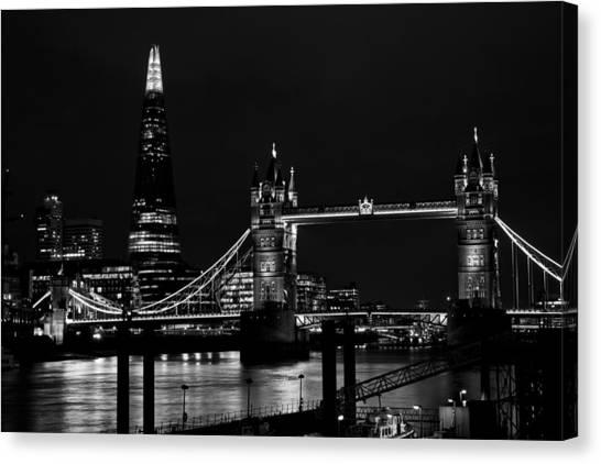 The Shard And Tower Bridge Canvas Print