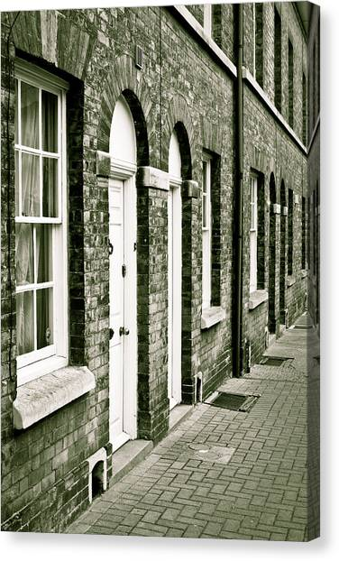 Brick House Canvas Print - Town Houses by Tom Gowanlock
