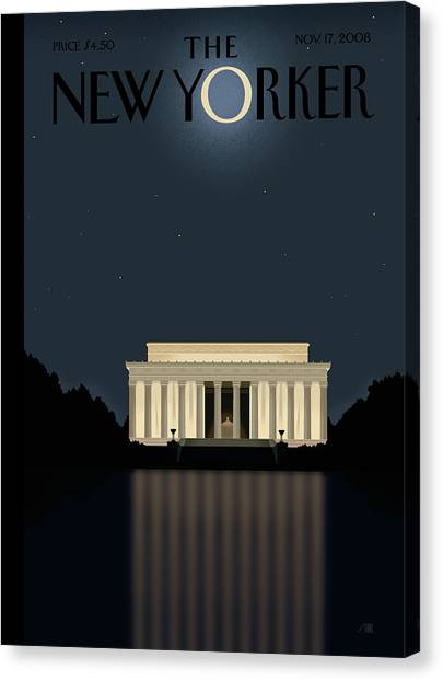 President Canvas Print - New Yorker November 17th, 2008 by Bob Staake
