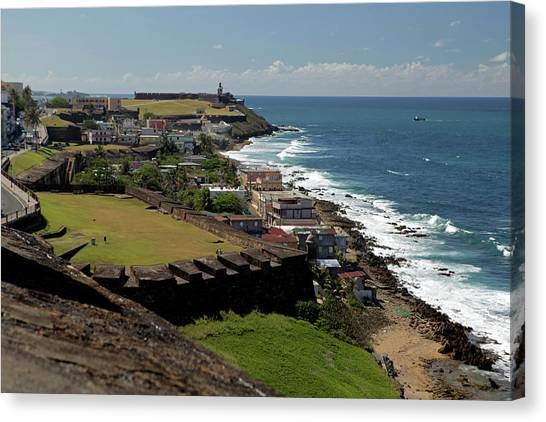 Spanish Fort Canvas Print - Usa, Puerto Rico, San Juan by Kymri Wilt