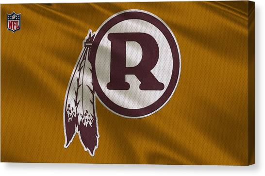 Washington Redskins Canvas Print - Washington Redskins Uniform by Joe Hamilton