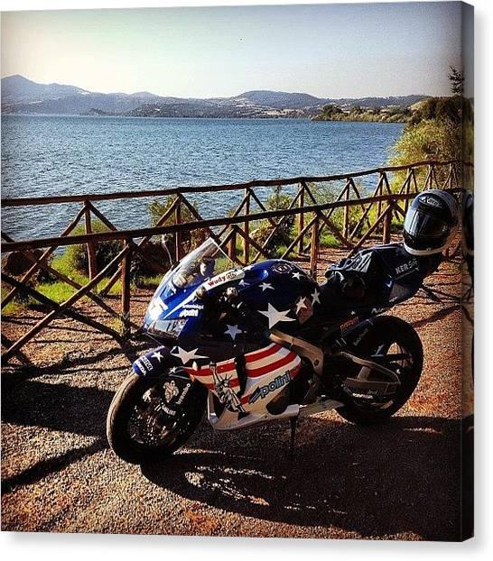 Biker Canvas Print - #webstagram  #tbt #tweegram by Adolini Primo