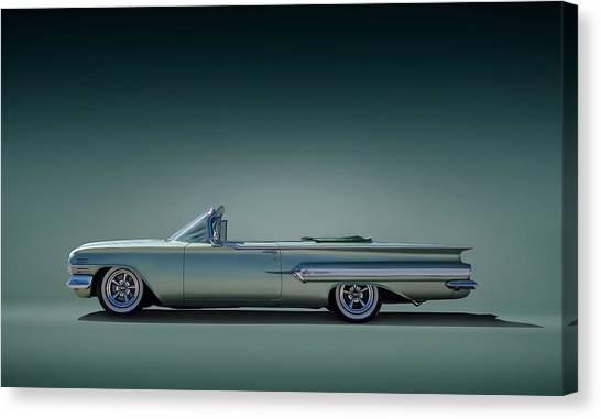 Classic Chevy Canvas Print - 60 Impala Convertible by Douglas Pittman