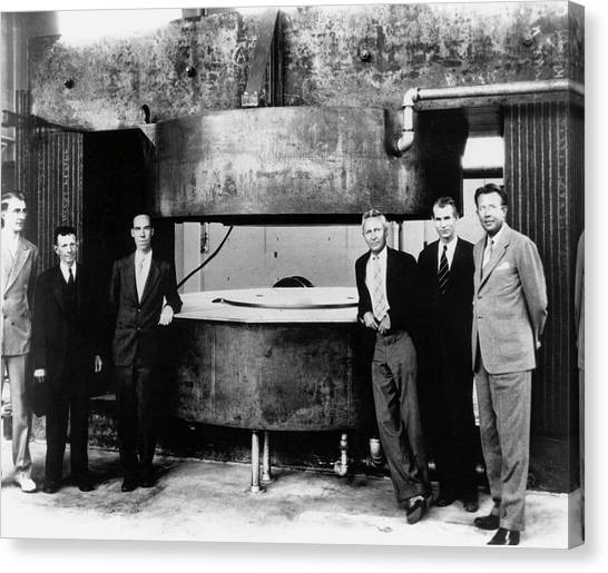 Inch Canvas Print - 60-inch Cyclotron And Nuclear Physicists by Us Department Of Energy