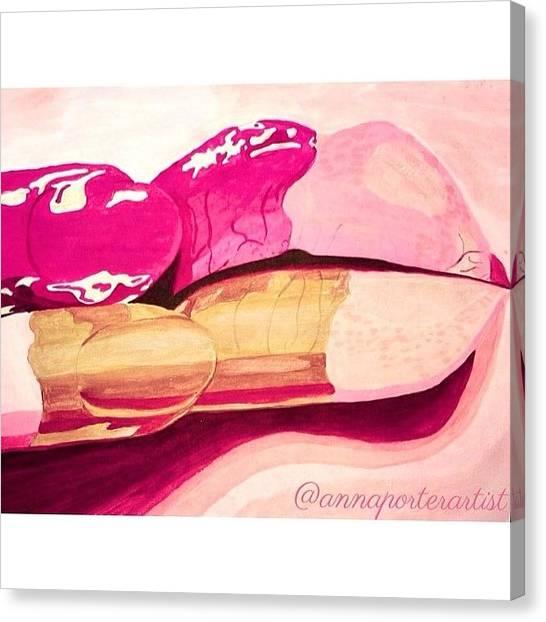 Fluids Canvas Print - Sensuality by Anna Porter