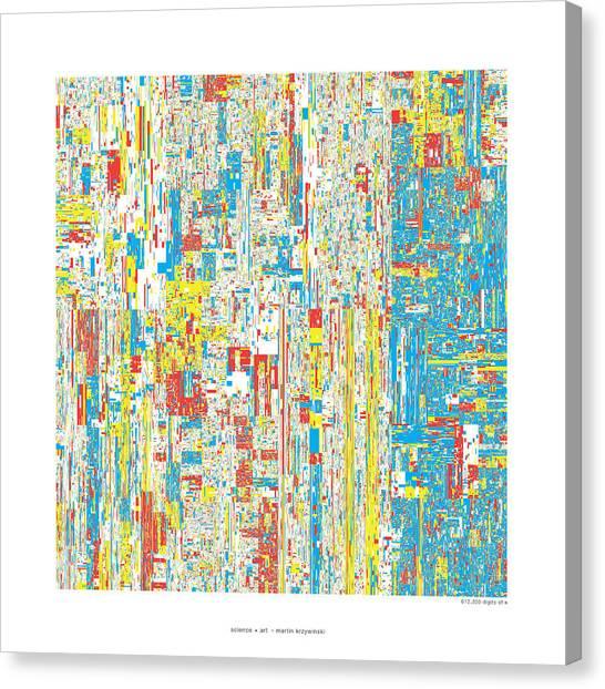 Pi Canvas Print - 612330 Digits Of Pi by Martin Krzywinski